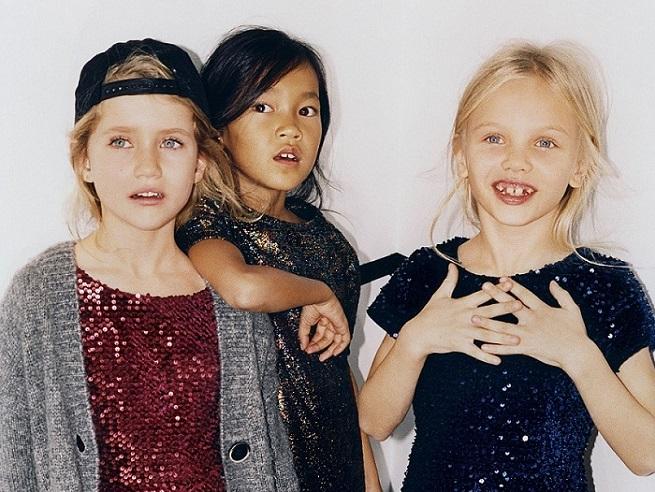 La colección navideña de Zara para pequeñas que se da en llamar PArty Kids