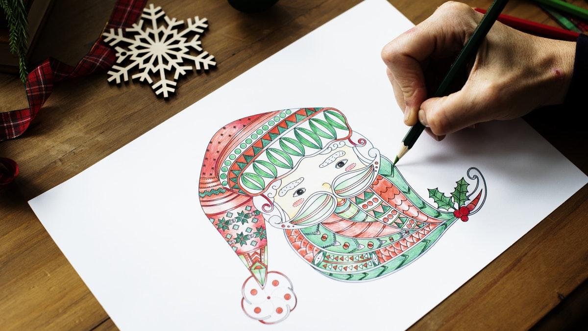 Papá Noel Dibujos Fáciles Para Colorear Y Pintar Estas