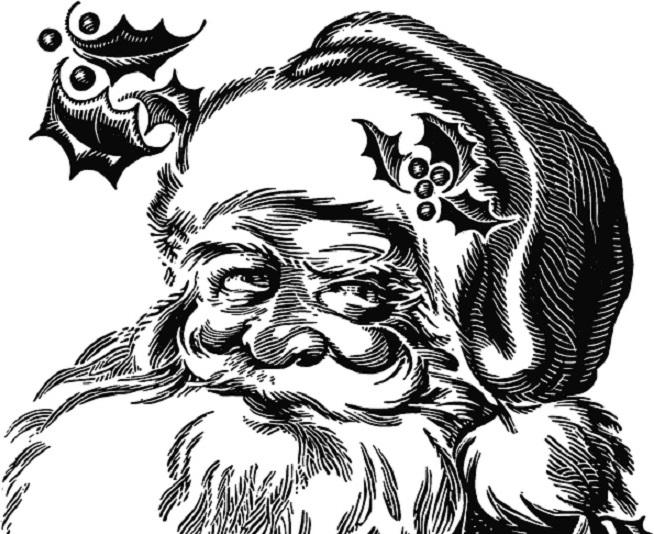 Dibujo De Papa Noel Facil