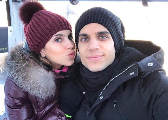 Marc Bartra junto a Melissa Jiménez, felices ante su nueva paternidad