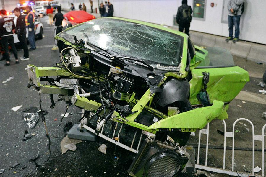 Lamborghini accidente