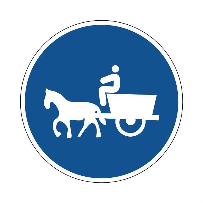 Prohibido aparcar y otras señales de tráfico - Camino para vehículos de tracción animal