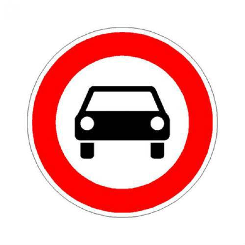 Prohibido aparcar y otras señales de tráfico - Circulación prohibida a vehiculos de motor
