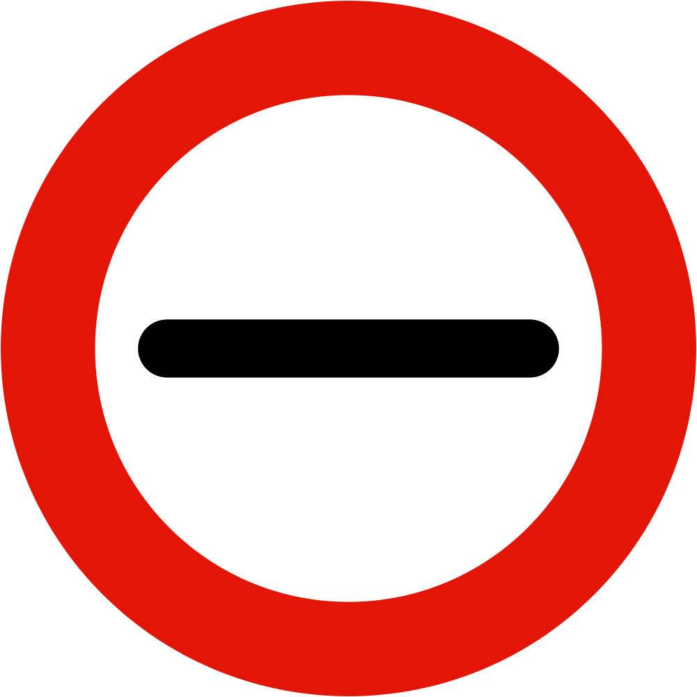 Prohibido aparcar y otras señales de tráfico - Pasar sin detenerse