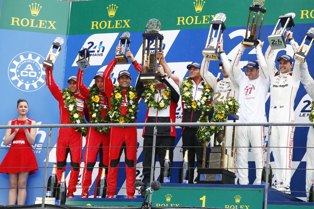 Podio Le Mans