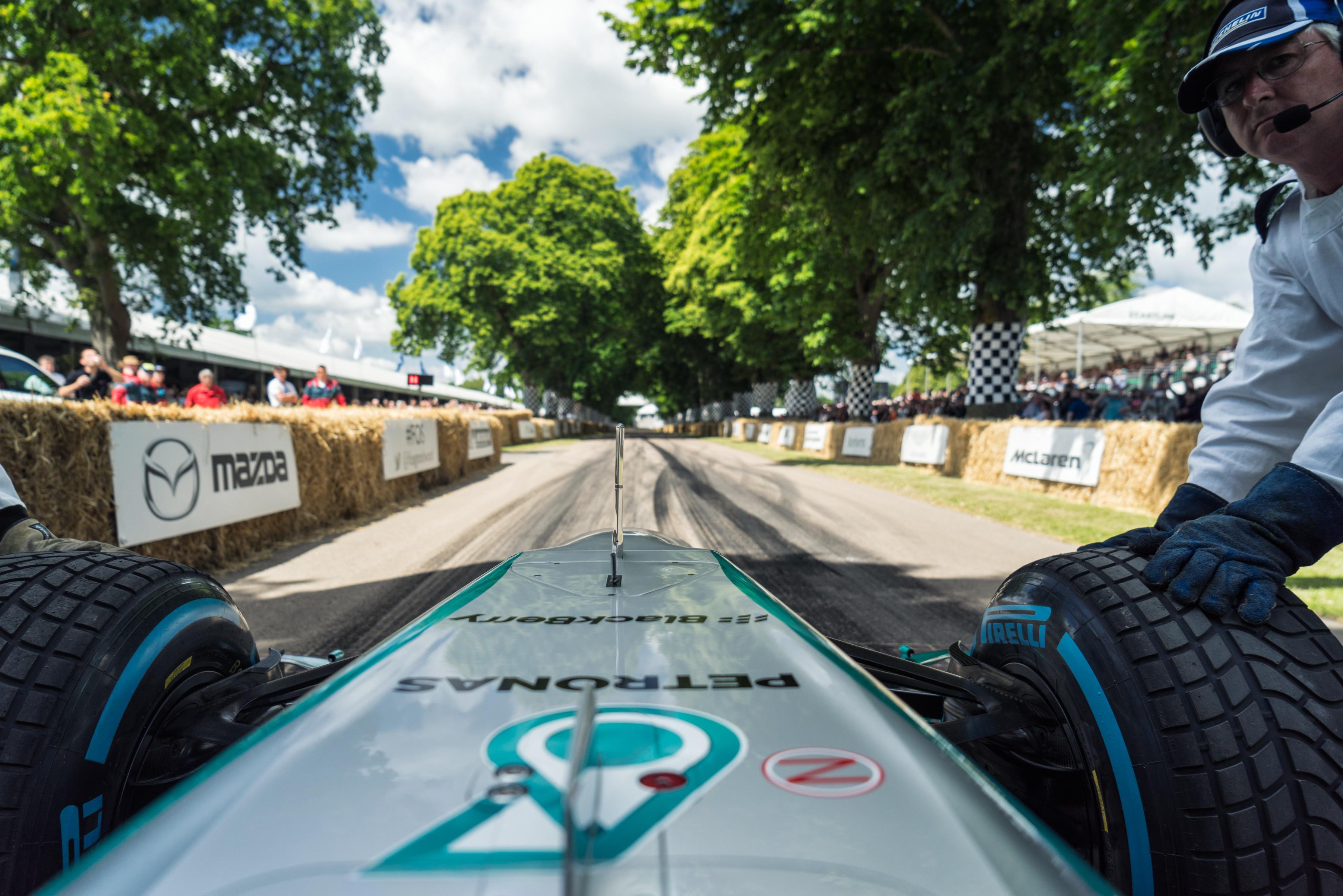 Goodwood Cockpit Mercedes F1