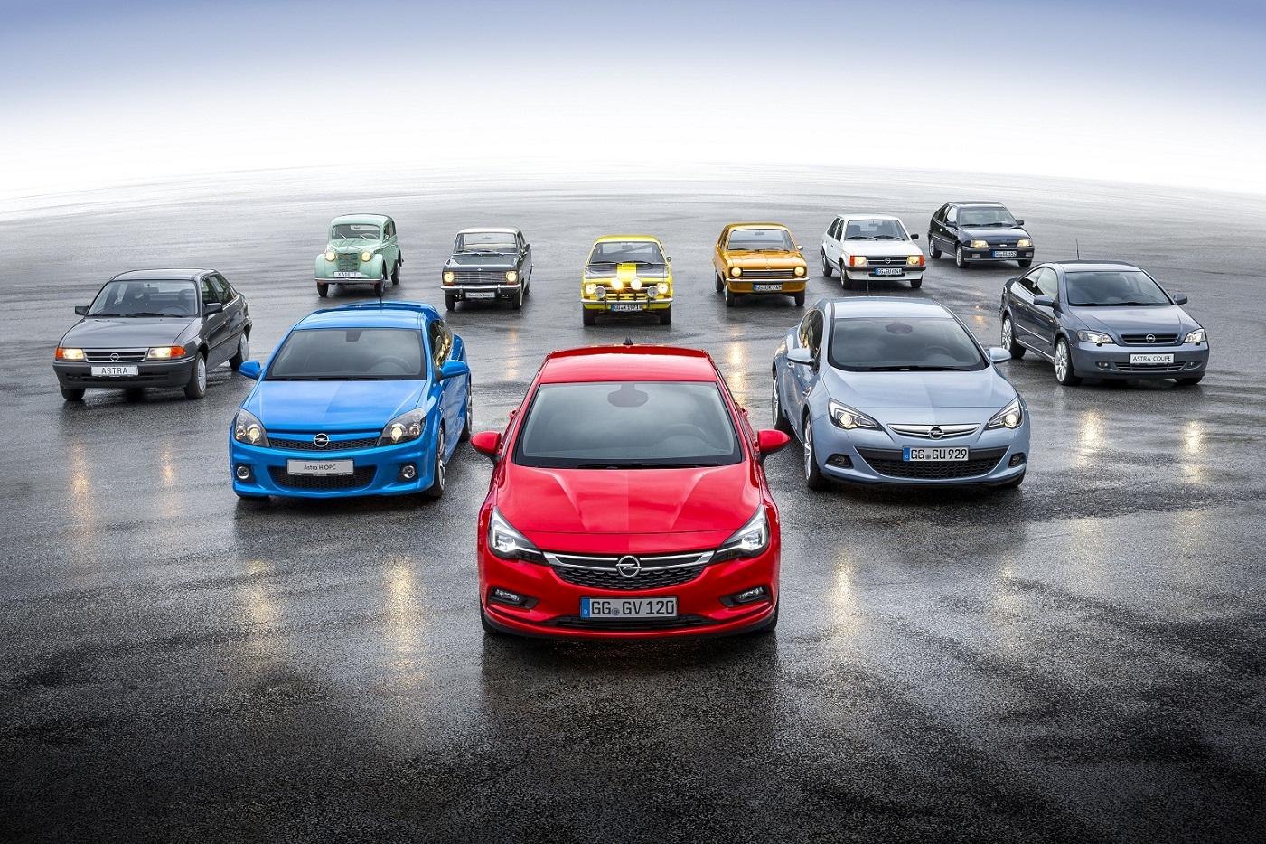 Opel Astra todas las generaciones