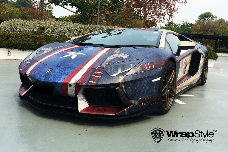 Lamborghini Aventador Capitan America
