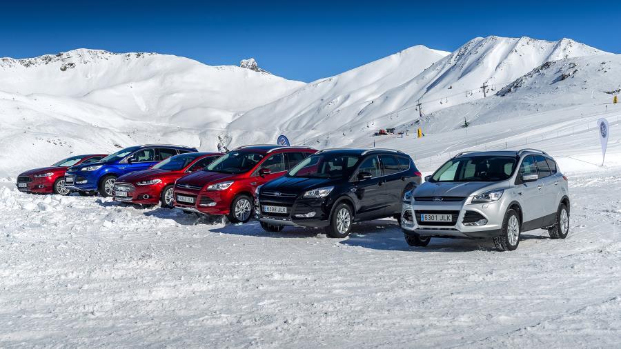 Los 4×4 de Ford se lucen en la estación de esquí de Astún