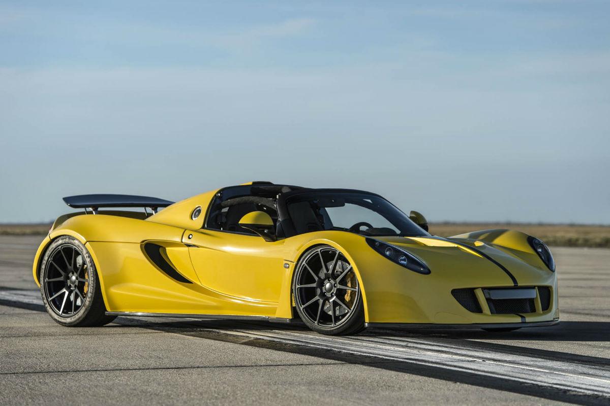 El Hennessey Venom GT Spyder bate el récord de velocidad de un descapotable