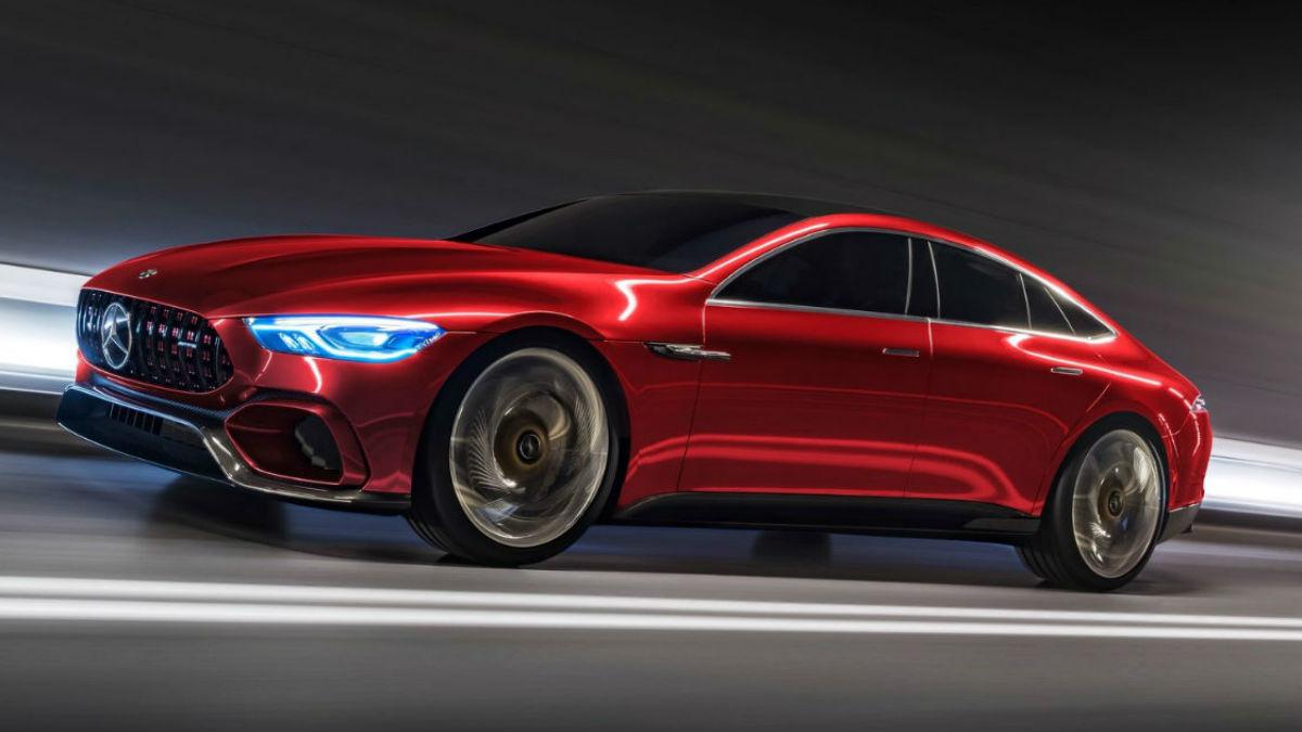 El nuevo Mercedes-AMG GT Concept es, sin duda, la gran estrella del stand alemán en el Salón de Ginebra.
