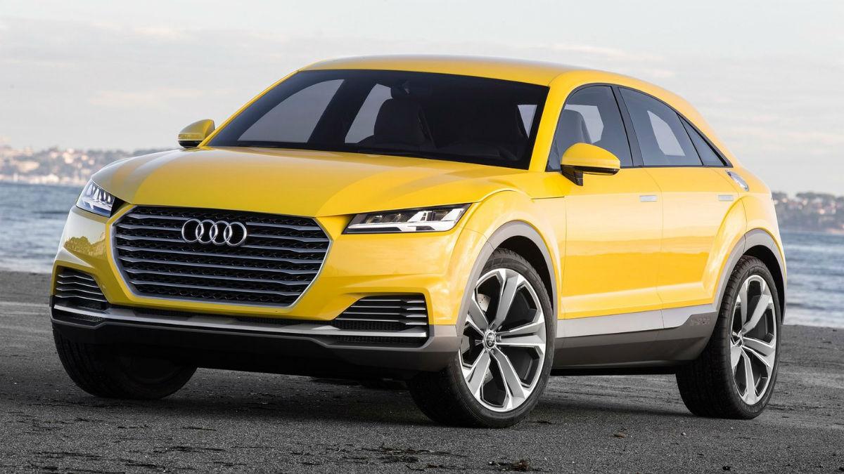 El Audi TT Offroad Concept, presentado en el Salón de Pekín de 2014, es el precursor de lo que será el nuevo Audi Q4, cuya llegada está prevista para 2019.