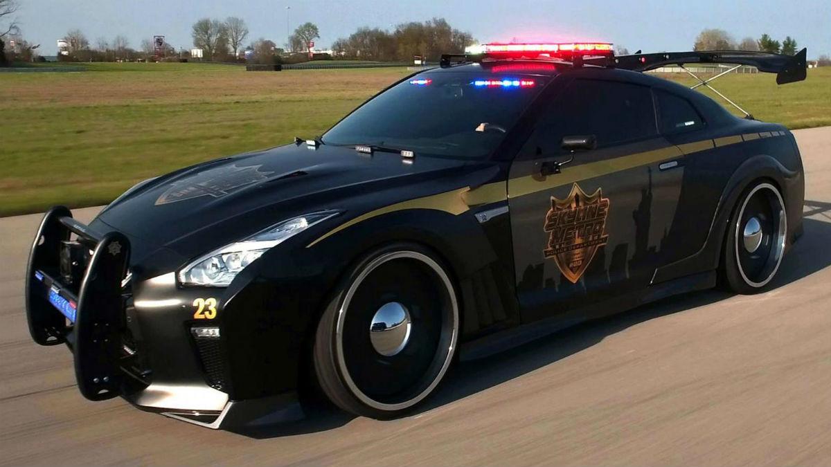 El Nissan GT-R Copzilla puede convertirse en el terror de los cacos en el caso de que algún cuerpo de policía lo 'adopte' en el futuro.
