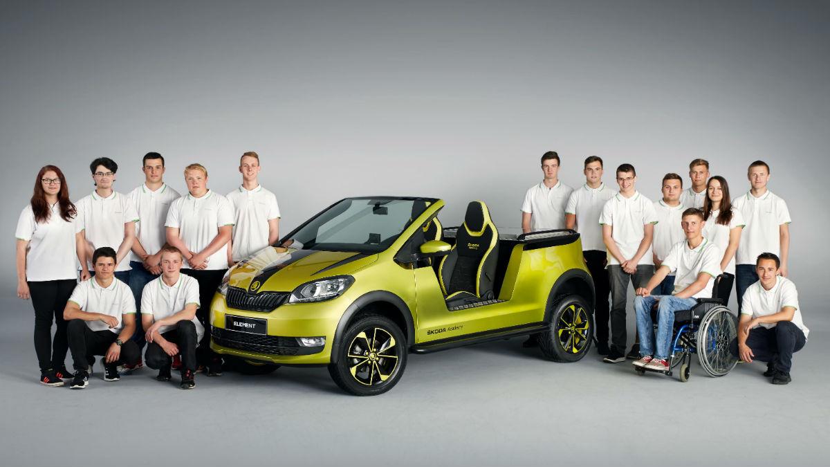 El Skoda Element es un buggy eléctrico creado por los aprendices de Skoda tras 1.500 horas de intenso trabajo.