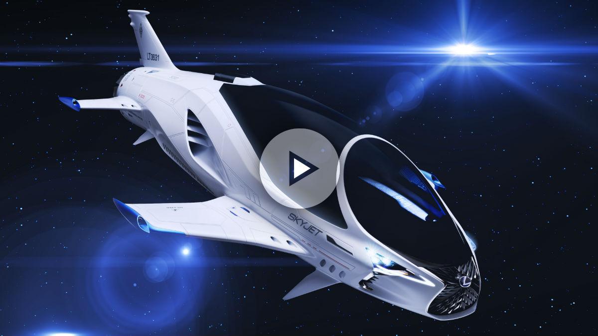 El Lexus Skyjet es uno de los grandes protagonistas de la película 'Valerian y la ciudad de los mil planetas'.