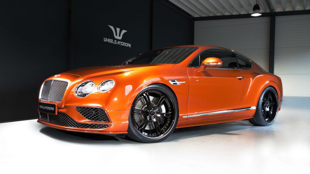 El Bentley Continental GT Speed que ha creado Wheelsandmore deja de lado la elegancia para ofrecer una imagen de lo más agresiva.