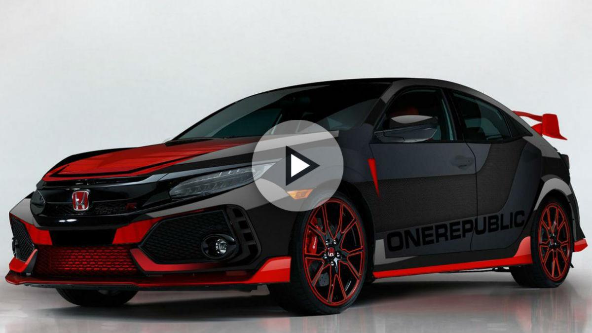 Honda se une a la gira del grupo One Republic con, entre otras cosas, un espectacular Civic Type R personalizado.