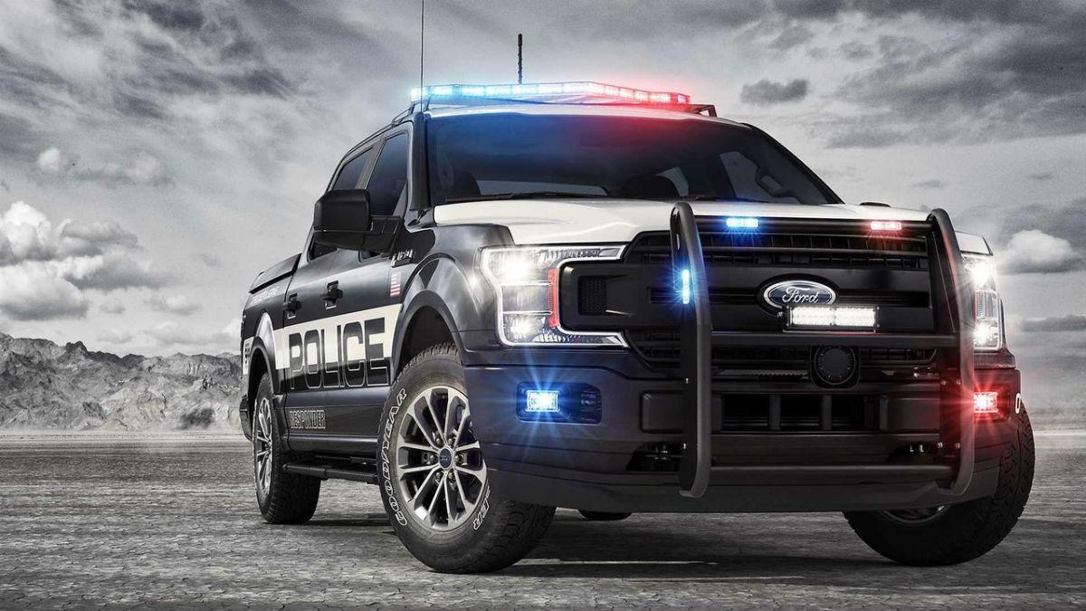 El espectacular Ford F-150 de la policía.