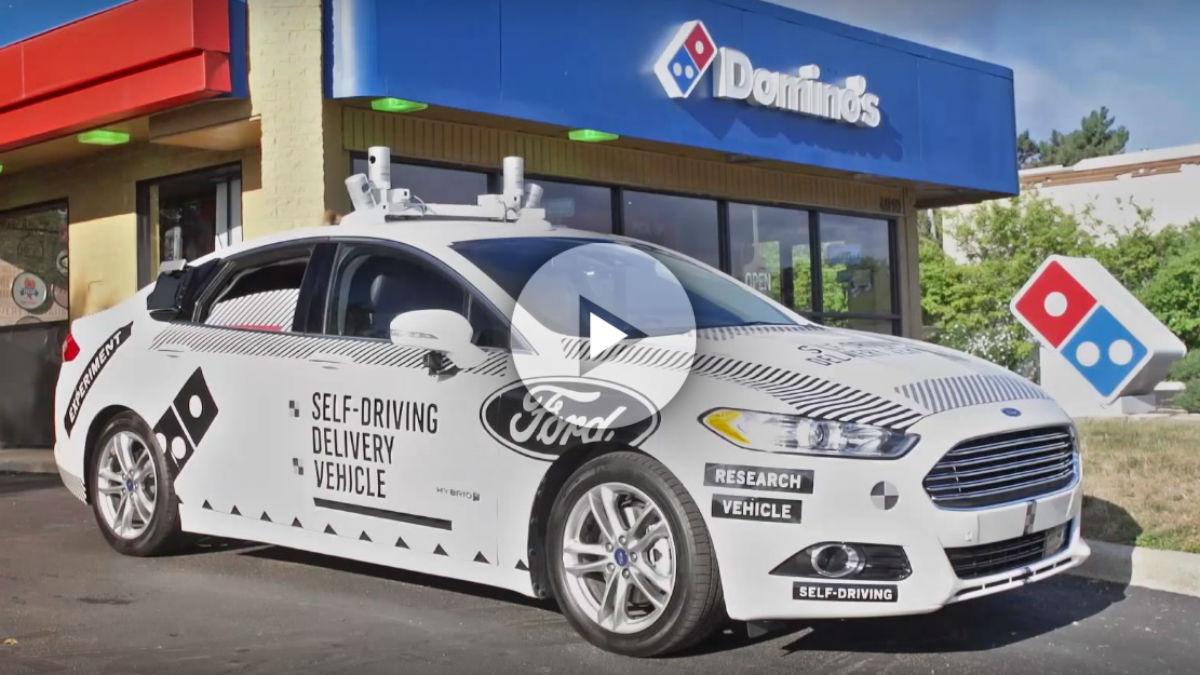 Domino's Pizza ha iniciado el desarrollo de una tecnología junto a Ford que hará que en el futuro nuestros pedidos lleguen a casa transportados por un coche autónomo.