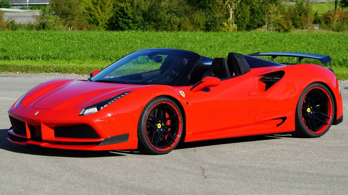 El nuevo Ferrari 488 Spider Novitec N-Largo mejora en todos los aspectos lo que ofrece el modelo convencional.