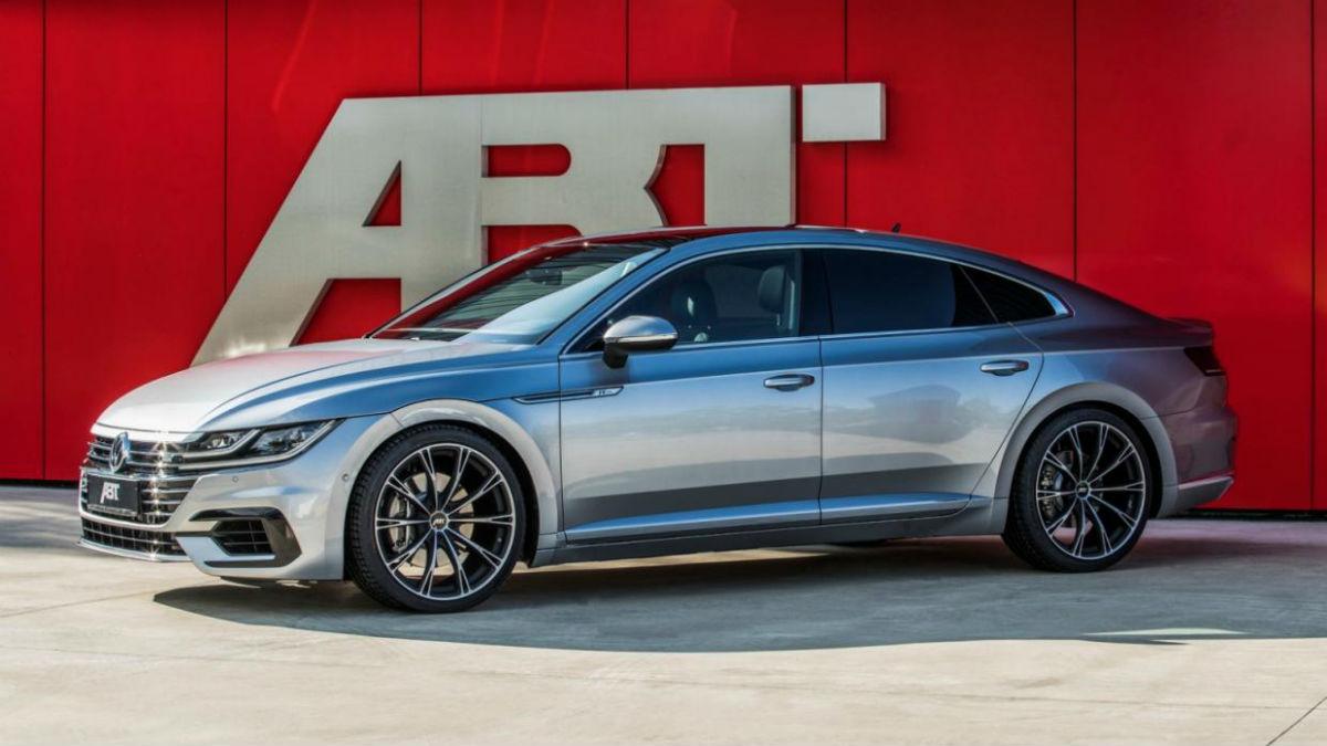 El Volkswagen Arteon adquiere una cara más deportiva gracias a los cambios propuestos por el preparador ABT.