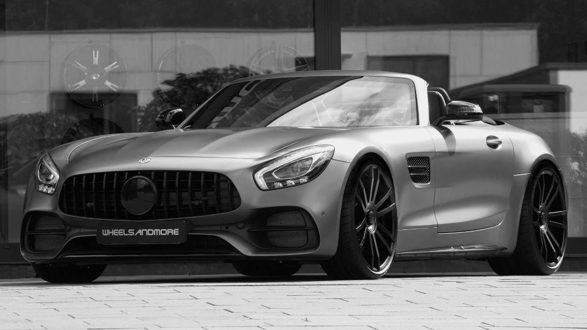 El Mercedes-AMG GT C Roadster que propone Wheelsandmore centra sus cambios en el apartado mecánico, que aumenta bastante su poderío.