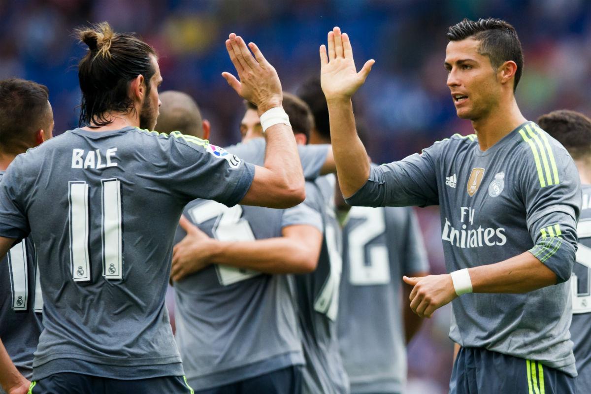 Bale y Cristiano Ronaldo celebran un gol. (Getty)