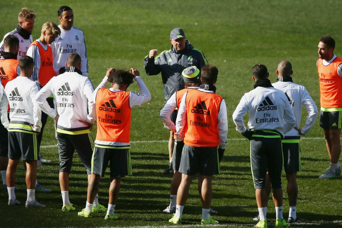 Rafa Benítez, en un entrenamiento del Real Madrid. (Getty)
