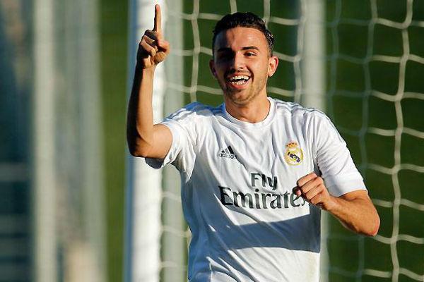 Borja Mayoral celebra un gol con el Castilla. (Imagen:realmadrid.com)