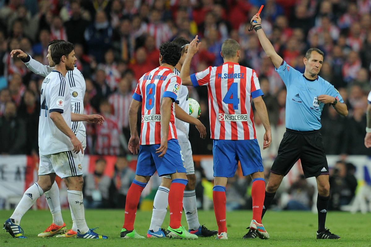 Clos Gómez expulsó a Cristiano Ronaldo en la final de Copa. (Getty)