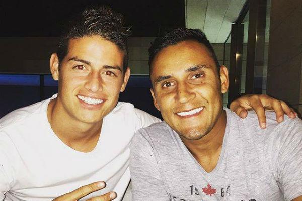 James y Keylor serán rivales en la Copa América Centenario.