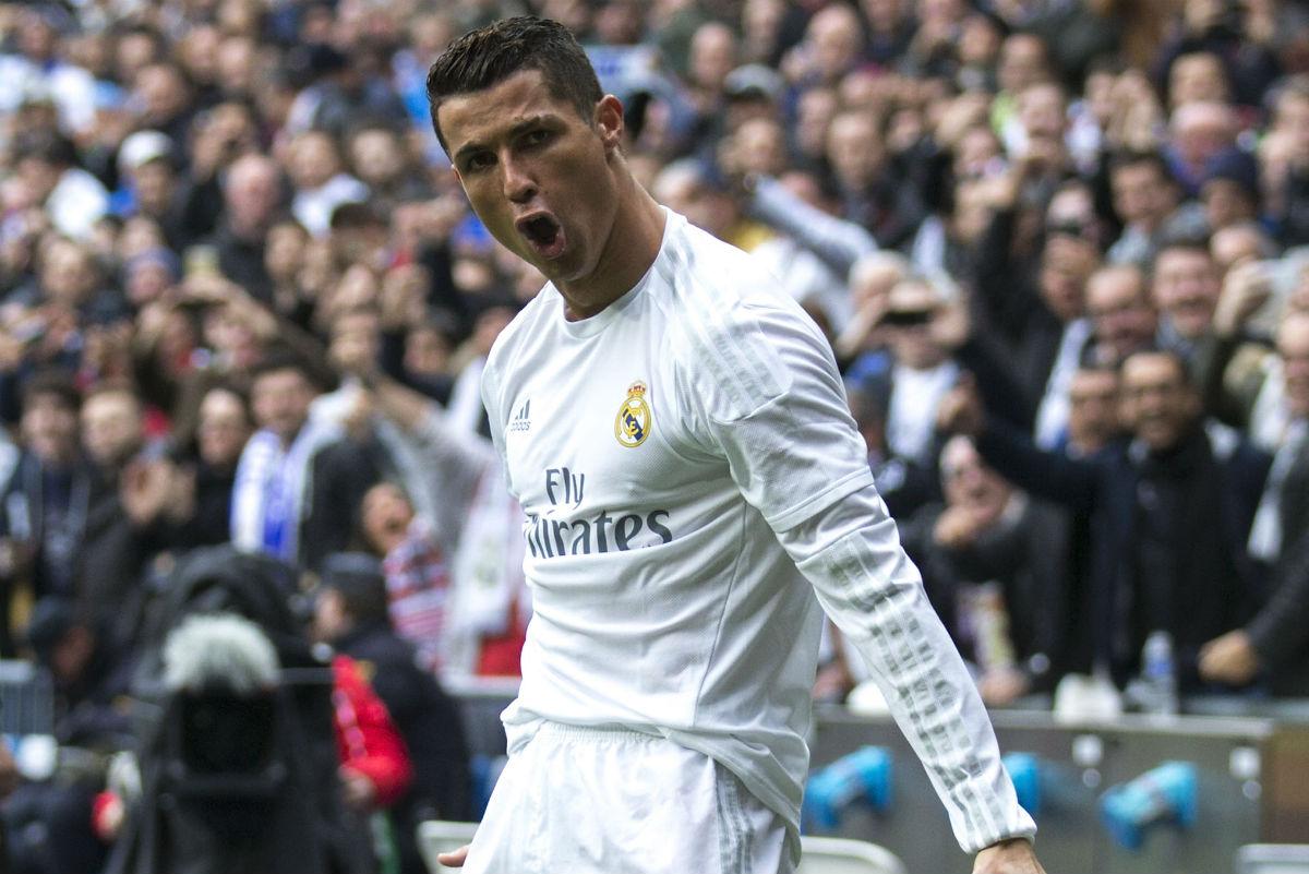 Cristiano Ronaldo, celebrando un gol contra el Athletic.