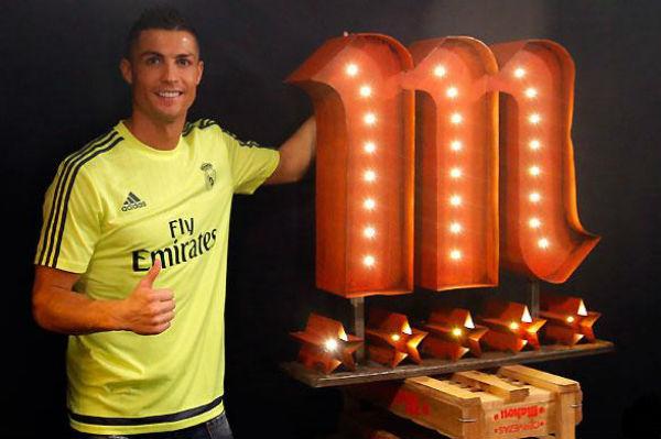 Cristiano Ronaldo, durante un evento publicitario.