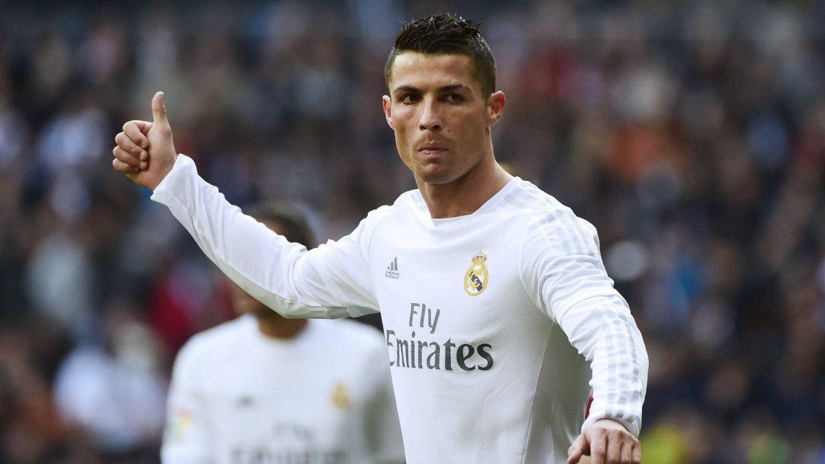 Cristiano Ronaldo, durante el derbi del Bernabéu. (Reuters)