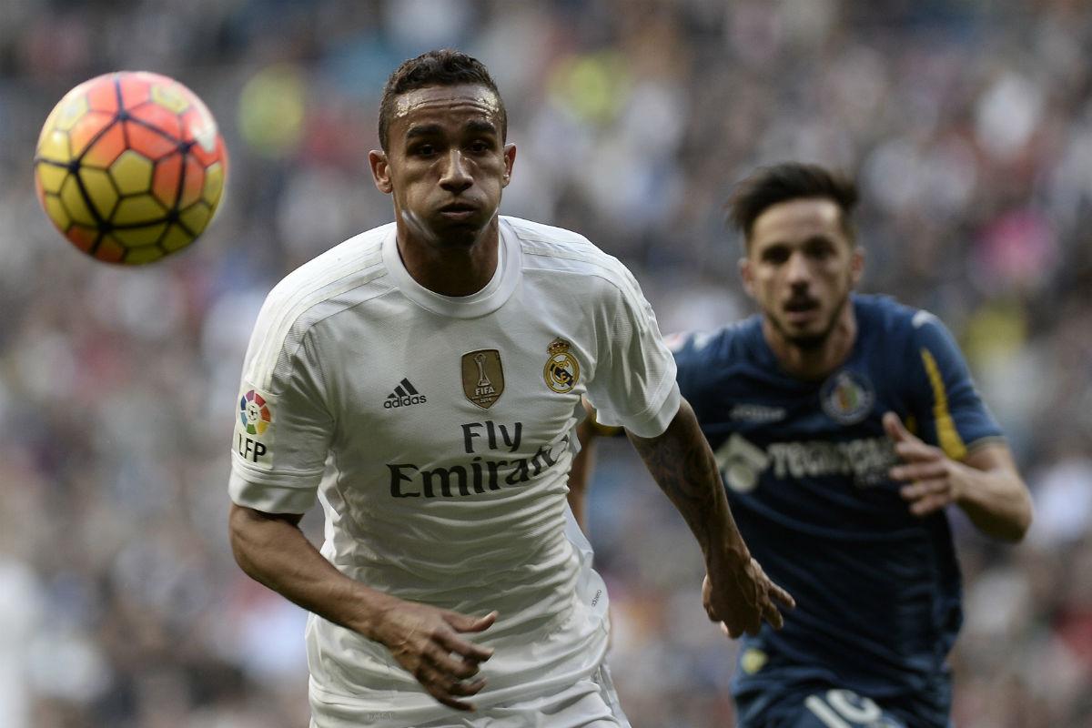 Danilo, en un partido del Real Madrid. (Getty)