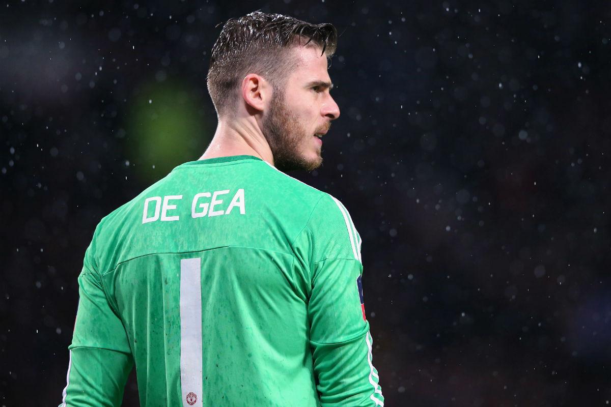 David de Gea, en un partido con el Manchester United. (Getty)