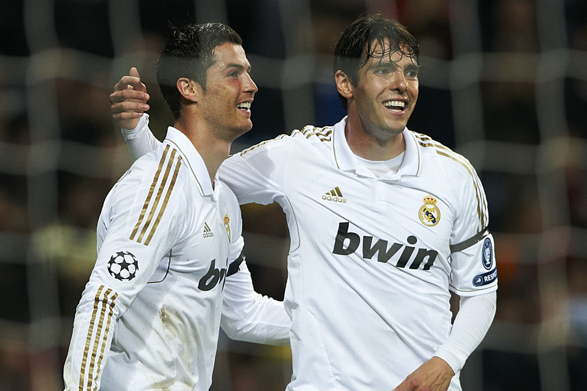 Kaká y Cristiano coincidieron en el Real Madrid. (Getty)