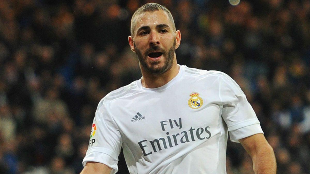 Karim Benzema celebra un gol esta temporada. (Getty)
