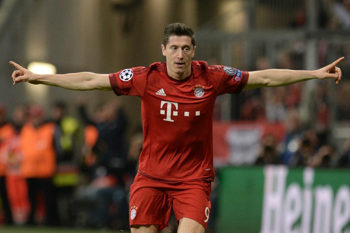 Lewandowski celebra un gol con el Bayern de Múnich. (Getty)