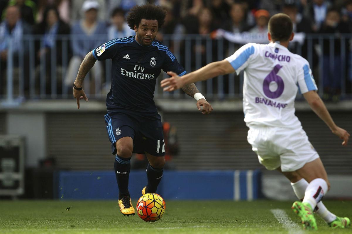 Marcelo fue de los mejores del Real Madrid en Málaga. (EFE)
