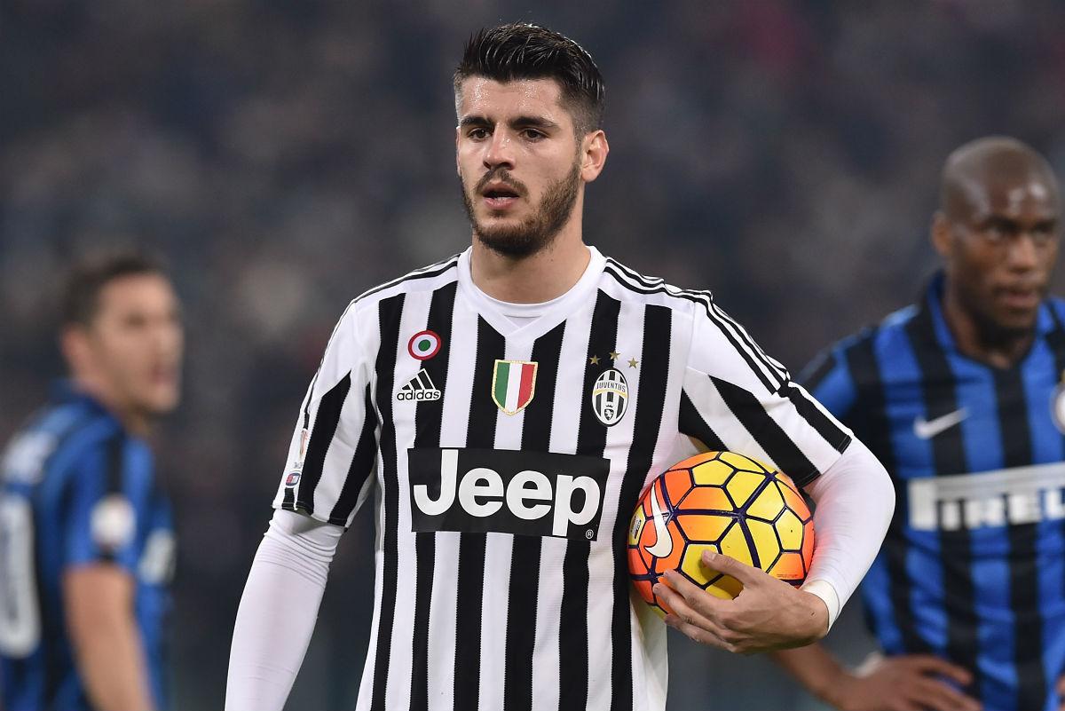 Morata, en un partido contra la Juventus. (Getty)