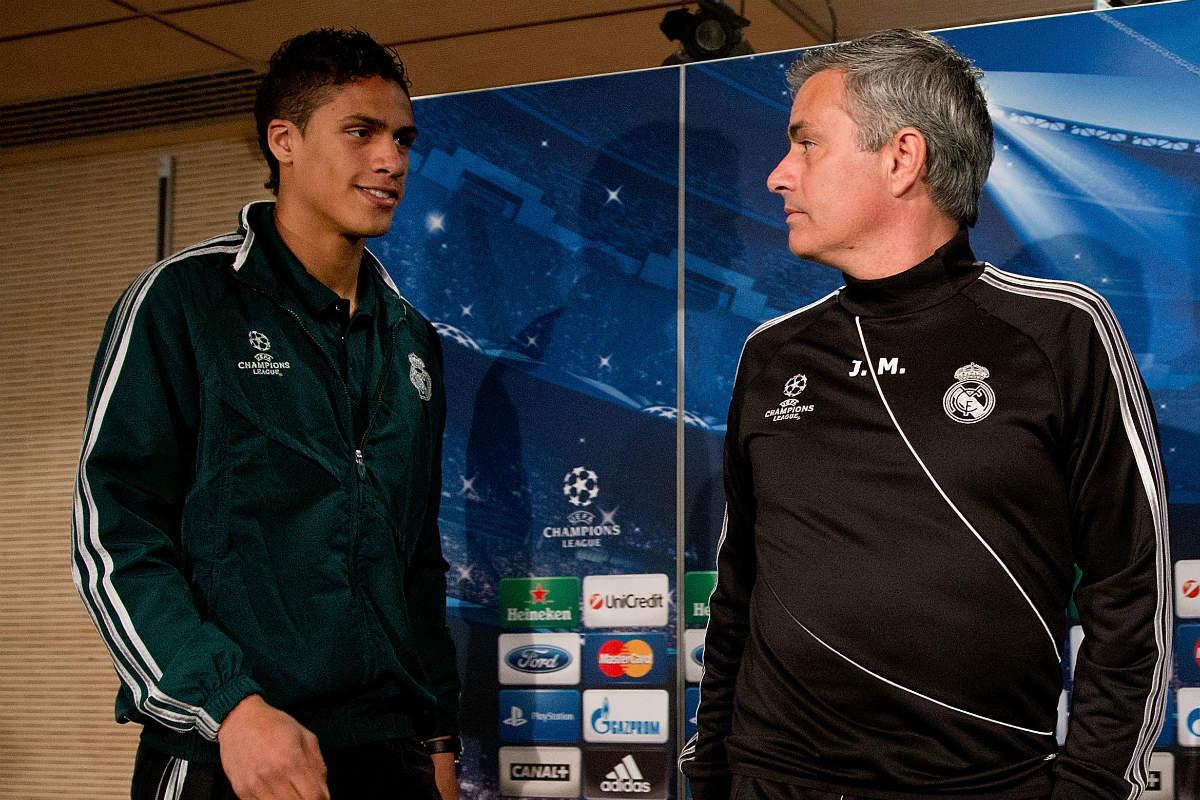 Mourinho y Varane coincidieron en el Real Madrid. (Getty)