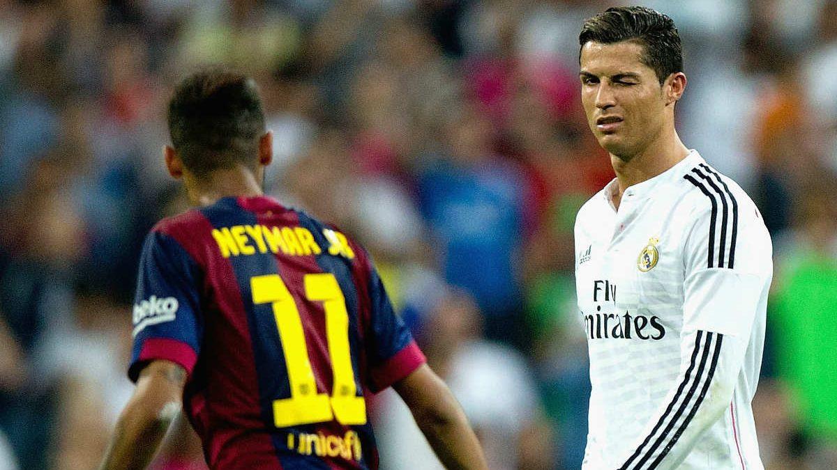 Neymar y Cristiano, en un Clásico. (Getty)