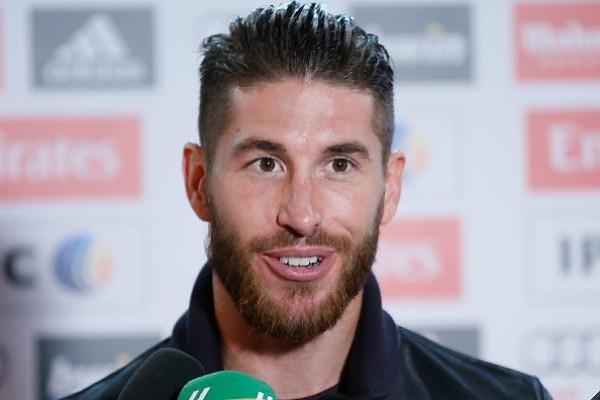 Sergio Ramos, en zona mixta.