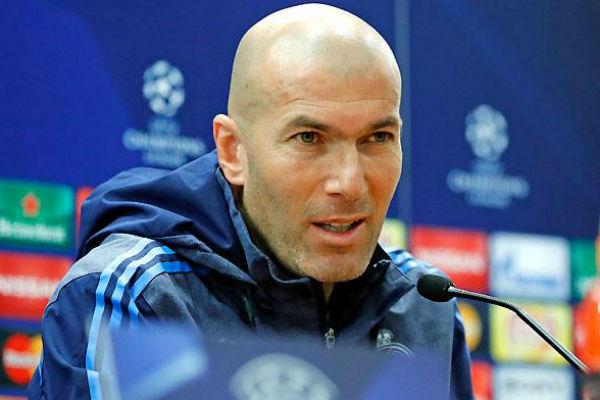 Zidane, en rueda de prensa. (Imagen: realmadrid.com)
