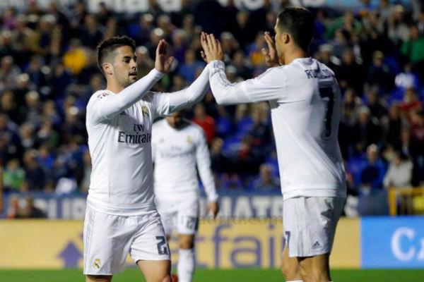 Isco marcó el tercer gol ante el Levante. (Imagen: realmadrid.com)