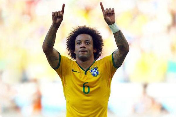 Marcelo, en un partido con Brasil. (Imagen: realmadrid.com)