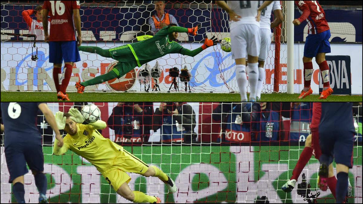 Keylor Navas y Oblak son dos especialistas en los penaltis.