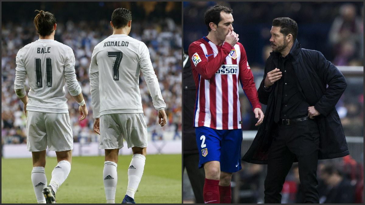 Bale y Cristiano contra Godín y Simeone.