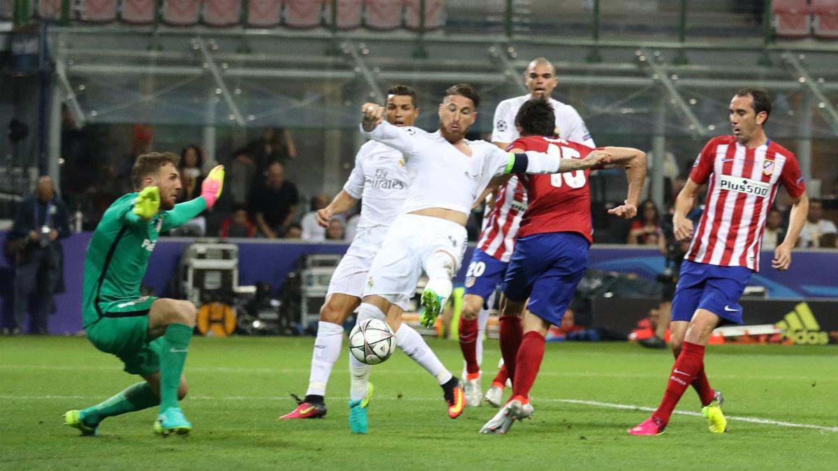 Así marcó Ramos el gol del Madrid. (Reuters)